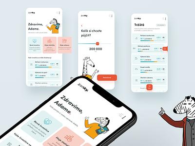 Zonky app concept application green red mobileui mobile design iosdesign ios uidesign app appdesign