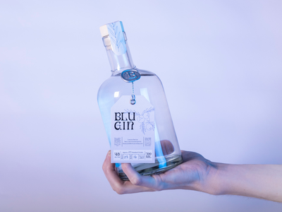 Blu Gin label and seal