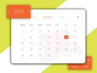 #038 Dailyui Challenge - Calendar