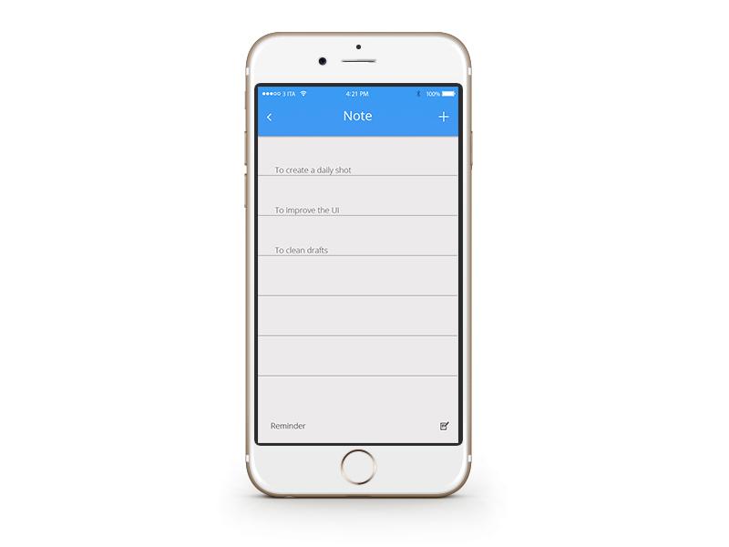 Notes Widget dailyui notes app widget ui