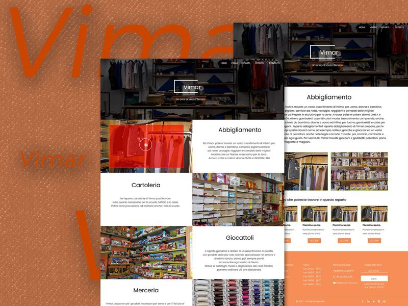Restyling web site layout website shop negozio webdesigner web design webdesign shot restyling