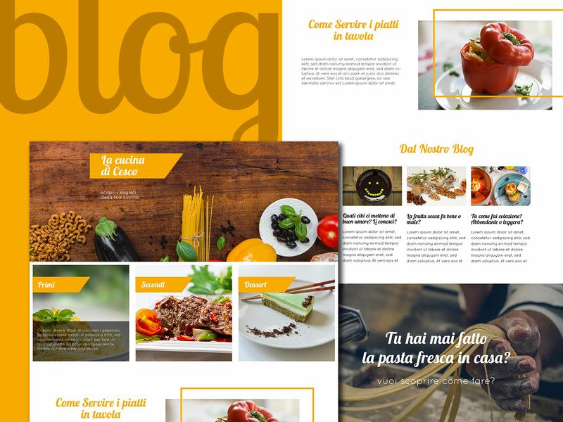 Blog Cucina - kitchen blog web design layout ricette cucina kitchen html template website wordpress wip webdesigner webdesign blog