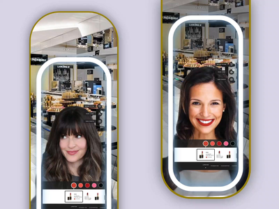 Augmented Reality mirror retail experience retail retail store smart mirror makeup augmented reality
