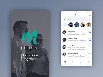 Mentoring communications app entrepreneur members whatsapp messanger mentoring group chat communications network chat app mobileapp uxui
