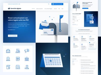 Domicilio Digitale – Landing page