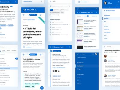 Developers & Docs Italia – Mobile screens