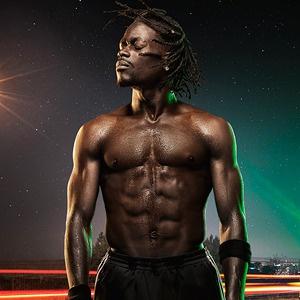 Neon photography composite outdoors portrait african san diego california photography photo photo manipulation retouching retouch lighting color dark