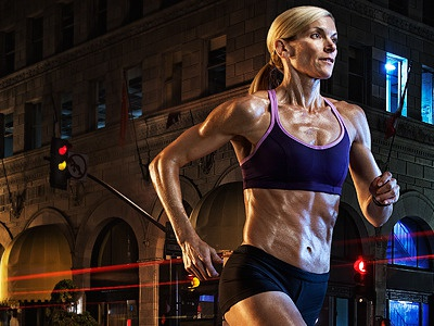 Star Trac 2012: Runner ad ad campaign athlete retouch retouching photography photo photo manipulation contrast color lighting hyper real punch athletic sports sport fitness exercise sweat composite san diego california