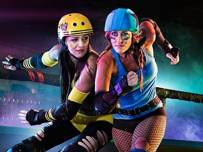 Star Trac 2012: Roller Derby campaign photography photo image images composite retouching retouch hyper real color outdoors adventure roller derby roller indoor 80s action