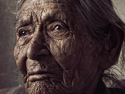 Diné navajo reservation native american native tribal navajo arizona portrait photography retouching warm face elderly