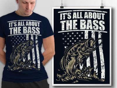 The bass t shirt design
