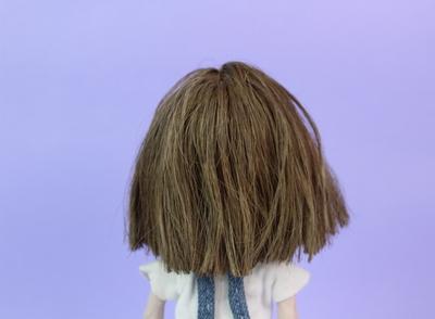 handmade hair painted with acrylics