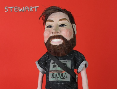 Personalised plasticine puppet