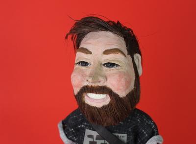Personalised plasticine figurine