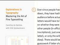 Explorations in Typography website