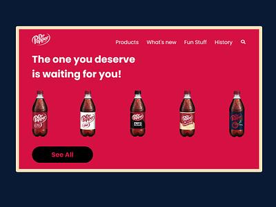 Dr pepper Redesign webdesign ui design