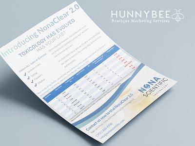 NonaClear 2.0 Flyer Design flyer design printdesign graphicdesign toxicology medical design