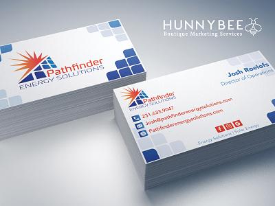 Pathfinder Business Card Design ( 1 out of 2 ) solar energy branding logodesign businesscard printdesign graphicdesign