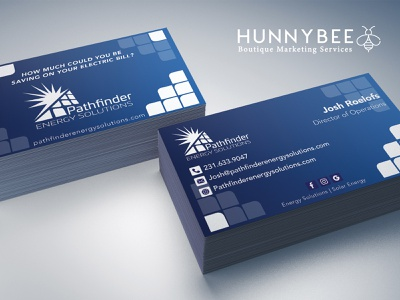 Pathfinder Business Card Design ( 2 out of 2 ) solar energy logodesign branding businesscard printdesign graphicdesign