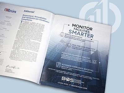 BOS Technology Magazine Ad Design printdesign magazine ad