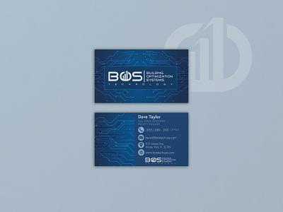 BOS Technology Business Card Design printdesign graphicdesign businesscard