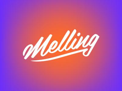 Melling Photography Logo photography script logotype wordmark