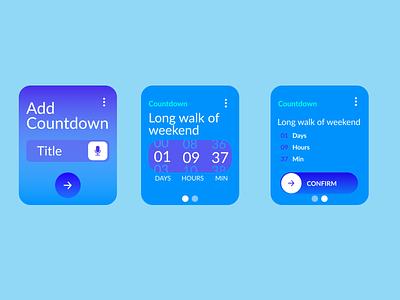 Countdown for watch logo illustration figmadesign designer graphic figma branding app icon design dailyui