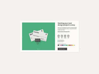 UI Card for LucasBell.ca mock up typography user interface design designer portfolio portfolio portfolio design card design web design user interface