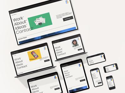 Responsive Web Design: Personal Site typography web designer layoutdesign mockups webflow responsive design graphic designer portfolio portfolio artist portfolio website web design responsive web design responsive