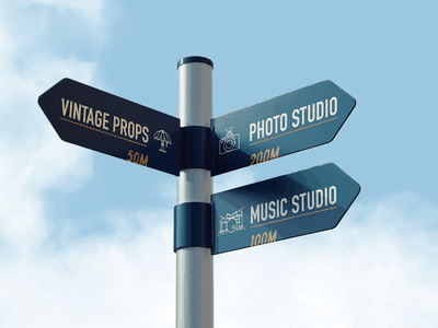 Sign Design for High Ground Creative Studio typography illustration graphic design sign signage wayfinding branding design branding creative studio sign design