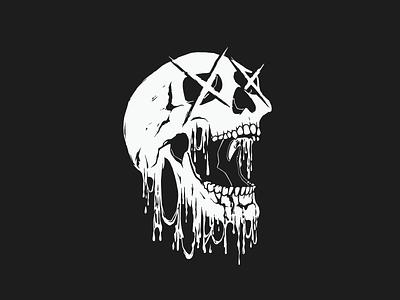 Skull Illustration for Clothing Company: Rum and Choke branding band merch skull art skull logo illustration skull