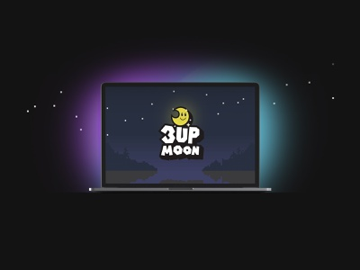 3UP Moon Logo Design nintendo 1up 3upmoon mario super mario world super mario video game streamer logo logo designer logo design