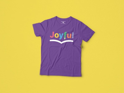 Joyful Literacy Illustrated Logo T pencil books book logo school reading literacy joyful design logo logo design graphic design typography illustration