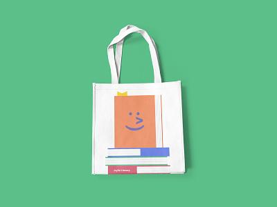 Joyful Literacy Tote Bag Design book design typography brand identity branding books joyful literacy tote bag