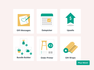 Illustration's for Giftship's Shopify App Listing Page gift illustration listing page ecommerce shopify giftship