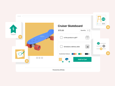 Illustration's for Giftship's Shopify App Listing Page illustration icon design online store ecommerce design ecommerce shopify giftship