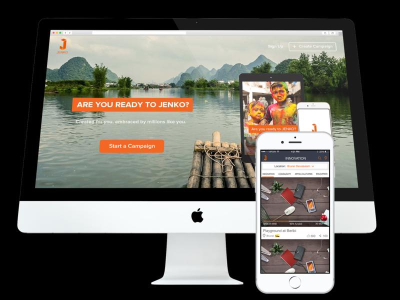 Case Study Jenko crowdfunding Apps & Website by Rahman Md Naziur on