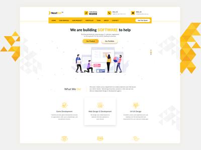 Software Company Landing Page UX UI Design