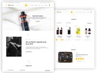 Electronic cigarette eCommerce Website UI UX Design