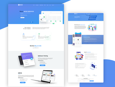 Software company website UI UX Design
