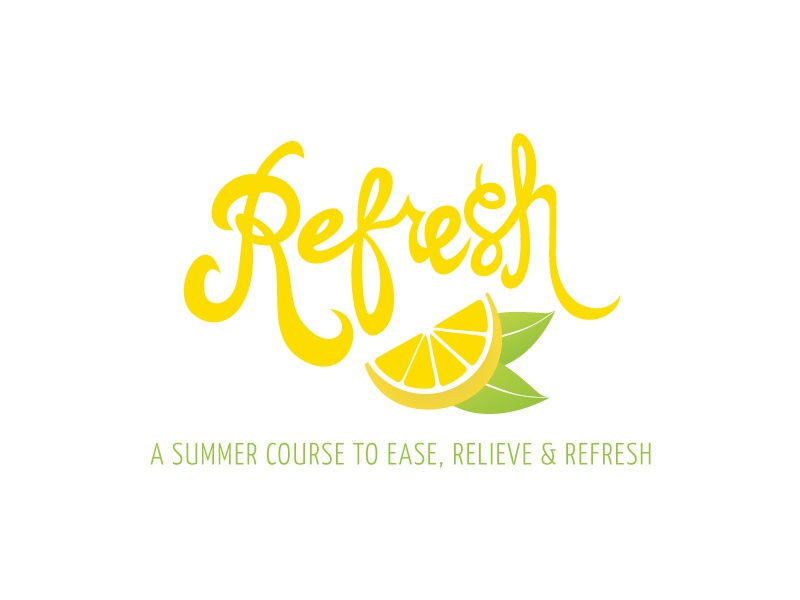 Refresh Logo branding logo design typography hand lettering refresh yellow