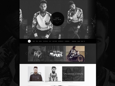 Fashion Brand X fashion ui webpage handdrawn design landing home hipster shop store website