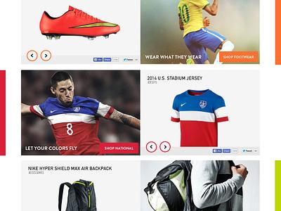 """Nike"" Soccer Homepage flat web design interface nike soccer football homepage ui website landing usa"