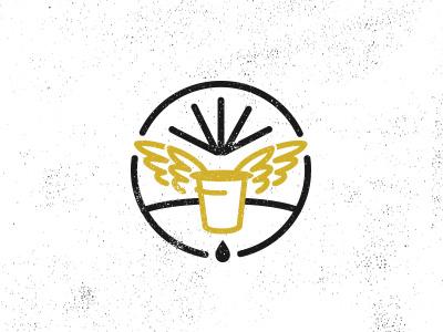 K Cup  coffee texture mark icon wings distressed vintage stroke cup keurig
