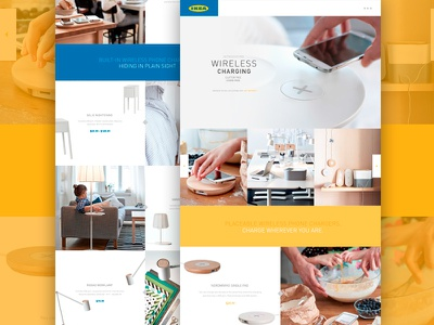 Ikea Wireless Charging ikea landing promotional wireless design web color layout photography website full-width