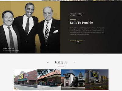 BEG business full-width webpage website graphic properties scrolling brochure design ui homepage black