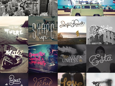 Hand-drawn Resolution 2014 custom marker pencil lettering drawn script brush typography type handdrawn