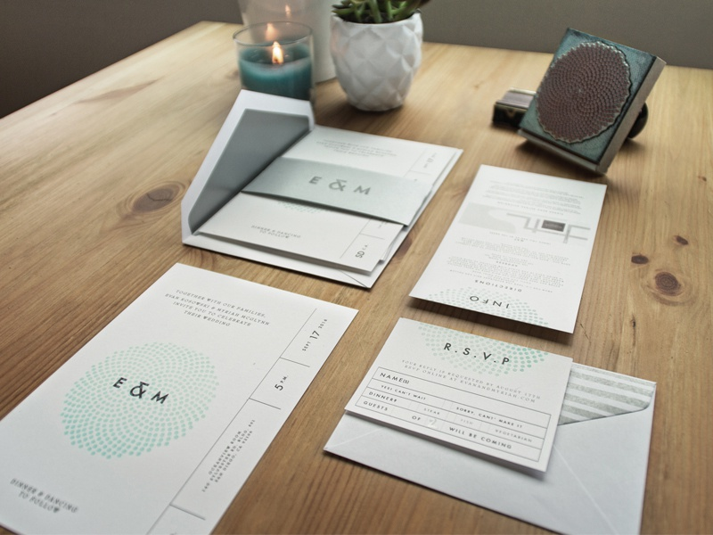 Wedding Invites letterpress stamp logo invitations wedding design stationary