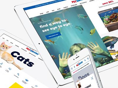 Petsmart homepage store pets design online shop website ecommerce