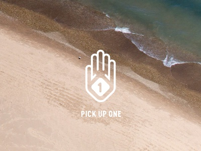 Pick Up One WIP R1 hand ocean design system non-profit vector logo identity branding